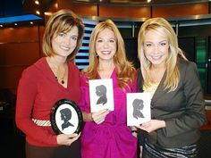 Top Fox news team profiled Silhouettes for Survivors. Here is Melissa Wilson, Cindi Rose, and Kristi Powers. The story is about Silhouettes for Survivors, making lives feel whole through the Holly Rose Ribbon Foundation. For more information see silhouettesbycindi.com