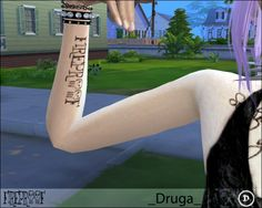 Fireproof inner forearm tattoo by Druga at Mod The Sims via Sims 4 Updates