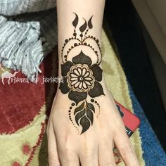 Floral Henna / Mehndi for EID on wrist . Henna by Jorietha Floral Henna Designs, Mehndi Designs, Arabic Henna, Henna Mehndi, Wrist Henna, Eid, Tattoos, Flowers, Tatuajes