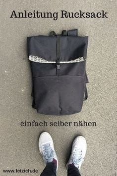 Instructions: Knit Oxford fabric backpack yourself- Anleitung: Rucksack aus Oxford-Gewebe selber nähen In my guide, I& explain how you can sew a simple backpack yourself. Sewing Projects For Beginners, Knitting For Beginners, Diy Projects, Sewing Hacks, Sewing Tutorials, Sewing Tips, Handmade Fabric Bags, Leftover Fabric, Oxford Fabric