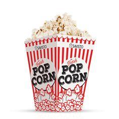 Savisto Red & White Retro Cinema Style Popcorn Party Boxes - Pack of 12 Microwave Popcorn Maker, Air Popcorn Maker, Popcorn Cart, Hot Air Popcorn Popper, Kettle Popcorn, Healthy Popcorn, Corn Pops, Retro Pop, Kitchen Worktop