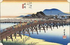 歌川広重「岡崎矢矧之橋」