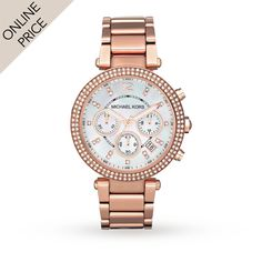 Michael Kors MK5491 Holiday Rose Gold Plated Ladies Watch | Designer Watches | Watches | Goldsmiths £162