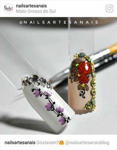 Art Tutorials, Bracelet Watch, Nail Art, Nails, Instagram, Accessories, Finger Nails, Draw, Templates