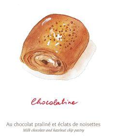 CHOCOLATINE Au chocolat praliné et éclats de noisettes Milk chocolate and hazelnut chip pastry