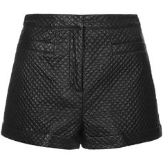 TOPSHOP PETITE Faux Leather Stitch Detail Shorts (9.985 HUF) ❤ liked on Polyvore featuring shorts, bottoms, short, shorts/skirts, black, petite, faux leather shorts, short shorts, topshop shorts und petite shorts