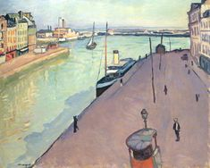 Le Havre by Albert Marquet Henri Matisse, Rio Sena, Raoul Dufy, France Art, Le Havre, Post Impressionism, Art Moderne, Famous Artists, Landscape Paintings