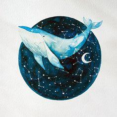 Mira este artículo en mi tienda de Etsy: https://www.etsy.com/es/listing/570579571/watercolor-whale-painting-print-titled