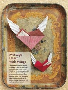 Message Heart With Wings