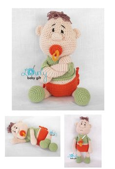 Amigurumi Pattern - Baby Doll with pacifier crochet pattern https://www.etsy.com/listing/120769002/amigurumi-doll-pattern-crochet-baby-doll?ref=shop_home_active_12
