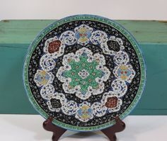 Persian Minakari Hand Painted Enamel Dish by 13thStreetEmporium, $50.00