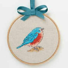 This month, stitch a beautiful bluebird in neon-bright tones. Available exclusively with a digital copy of March 2014 CrossStitcher magazine. On sale 7 February 2014.