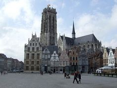 The Main Market Square in Mechelen, #Belgium #beautifulplaces