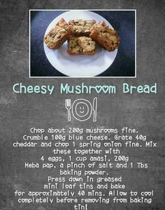 Banting Diet, Banting Recipes, Lchf, Blue Cheese, Low Carb Keto, Cheddar, Recipies, Stuffed Mushrooms, Easy Meals