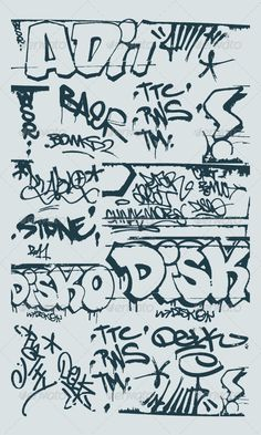 Find Vector Set Grunge Graffiti Design Elements stock images in HD and millions of other royalty-free stock photos, illustrations and vectors in the Shutterstock collection. Graffiti Lettering Alphabet, Graffiti Words, Graffiti Tagging, Graffiti Drawing, Graffiti Designs, Bubble Letter Fonts, Grunge, Hip Hop Art, Design Elements