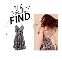 """""""Daily Find: Miss Selfridge Tie Front Dress"""" by polyvore-editorial ❤ liked on Polyvore featuring Miss Selfridge and DailyFind"""