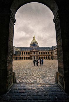 Les Invalides~Where Napolean's tomb is located along with other people, objects, and statues dedicated to the military history of France.