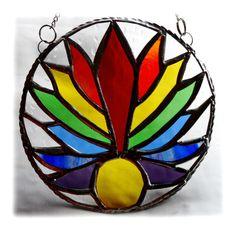 Rainbow Sun Ring Stained Glass Suncatcher £22.50