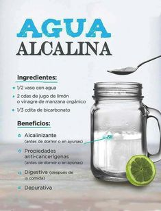 Alkaline water kills cancer cells and heals the skin .- El agua alcalina mata a las células cancerosas y sana al cuerpo. Alkaline water kills cancer cells and heals the body. Healthy Living Tips, Healthy Tips, How To Stay Healthy, Healthy Recipes, Healthy Food, Healthy Juices, Healthy Drinks, Natural Detox, Eat Smarter