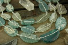 Fragments / Shards of Aqua Blue Roman Glass by WomanShopsWorld