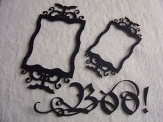 Scrapbook Frames...3 Piece Set of Very Elegant and Scary Scrapbook Frames and Sentiment Scrapbook Embellishment