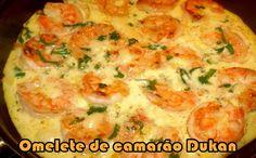 Omelete de camarão - Dieta Dukan #receitas #dukan #receitasdukan