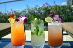 Enjoy our 'Liquid Artistry' cocktails at the Infinity pool of Trump International Hotel Waikiki Beach Walk. The Island Sunset, Mojito, and Pualani are some of our favorites. Trump International Hotel, Waikiki Beach, Five Star Hotel, Beach Walk, Mojito, Trip Advisor, Infinity, Hawaii, Cocktails