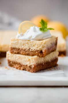 Pucker-up Creamy Lemon Squares Recipe | Little Spice Jar