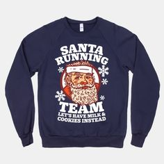 Santa Running Team #workout #running #santa #christmas #winter #snow #funny #lazy #race #fitness #style