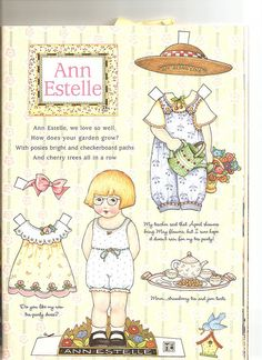 Ann Estelle paper doll 9 by Lagniappe*Too, via Flickr * 1500 free paper dolls for other Pinterest paper doll pals at Arielle Gabriel's The International Paper Doll Society *