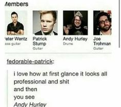 249 Best Oh Andy Images Hurley Pete Wentz Patrick Stump