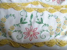 Pillowcases Two Queen Size White Cotton Cases by EauPleineVintage