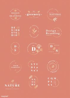 A bunch of different logos / logo marks with clean and experimental typography as well as illustrations. Free Company Logo, Desing Inspiration, Logo Minimalista, Square Logo, Minimal Logo Design, Wedding Logos, Wedding Logo Design, Branding Design, Logo Branding