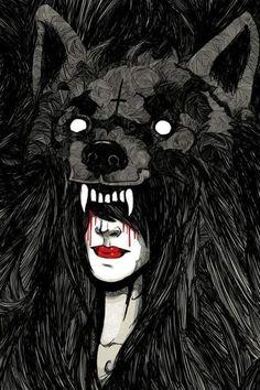 Wearing Wolf skin.