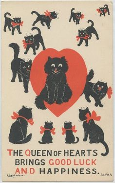 Illustration ancienne de Louis Wain