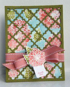 Delightful dahlias ; SU Tiny tags ; Quatrefoil cover plate