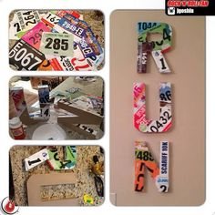 I will be doing this to my Cross Country bibs from senior year!!