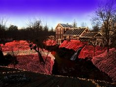 Historic Clifton Mill celebrates the Christmas Season with an extraordinary light display of 3.5 million lights illuminating the mill, the gorge, the riverbanks, trees and bridges. Enjoy and outdoor miniature village which includes replicas of a train station, moving light parade, diner, and drive-in movie. Look inside Santa's workshop while he works to get ready for the big day. View a fantastic collection of over 3000 Santa Clauses. Enjoy a musical covered bridge light show every hour on…