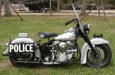 1957 Harley FL Police Bike
