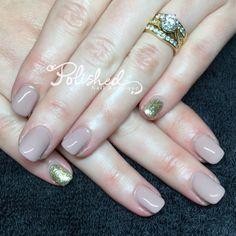 by Bio Sculpture Gel - Jordan with gold feature pinkies Bio Sculpture Gel Nails, Gold, Beauty, Beleza