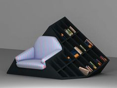 Armchair Bookshelf Hybrid By Tembolat Gugkaev