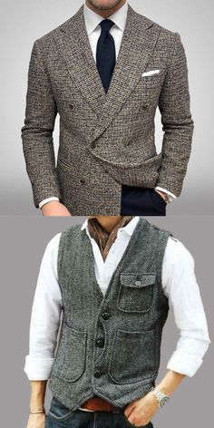 Stylish Mens Outfits, Casual Outfits, Blazers For Men Casual, Dressy Jackets, Smart Outfit, Vest Outfits, Mens Fashion Suits, Well Dressed Men, Gentleman Style