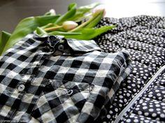 Quadri e pois - Bianco e nero - Primavera iDo Made in Italy - www.momeme.it