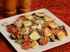 Bulgur Salad with Halloumi