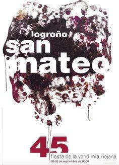 Cartel Fiestas San Mateo Logroño 2001