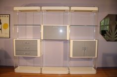 Vintage Modern 1970s Lucite Acrylic Wall Unit or Room Divider