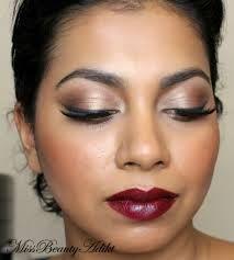 #makeup da sera con #rossetto porpora e #ombretto della #mac color bronzo