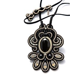 Just beautiful!  Need to learn how to do this.  This blog is full of beautiful examples of soutache!