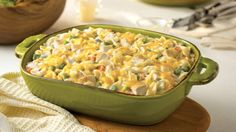 This comforting and delicious casserole features chicken, veggies, noodles and lots of cheese. Find more casserole recipes at DollarGeneral.com.