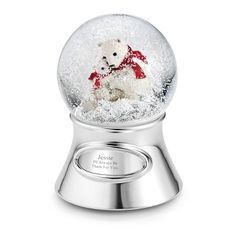 PERSONALISED Snow Globe Child Christmas Any Occasion Message Fairy Polar Bear